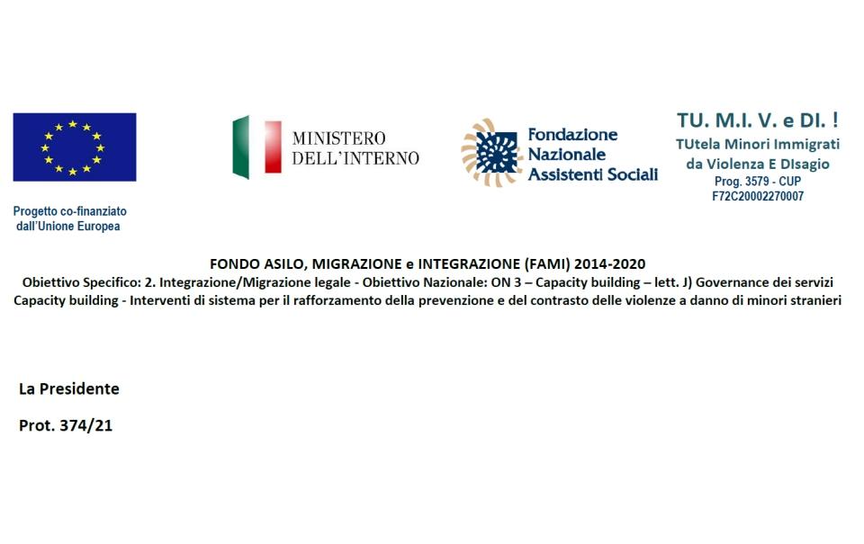 GRADUATORIA : FONDO ASILO, MIGRAZIONE e INTEGRAZIONE (FAMI) 2014-2020